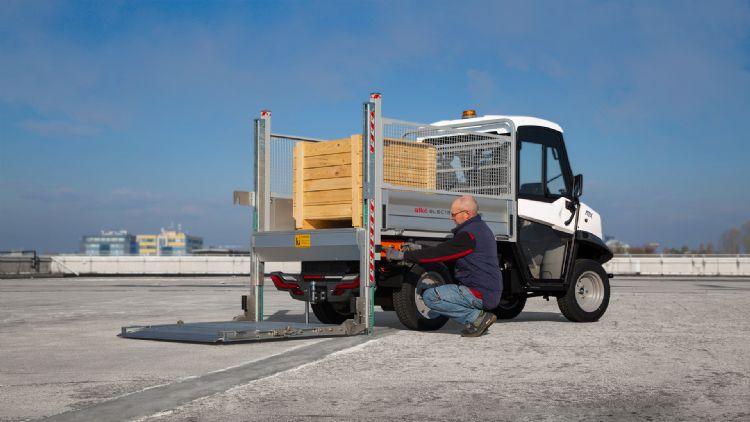 Alkè biedt vele mogelijkheden, zoals een uitvoering met een laadlift.