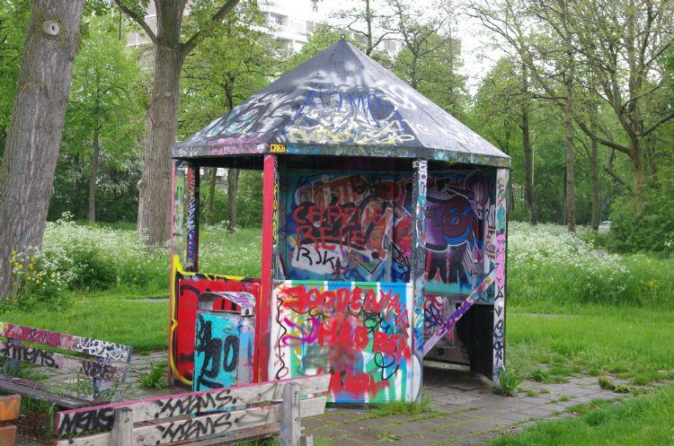 Voorzieningen voor jongeren trekken vaak graffitikunst aan.