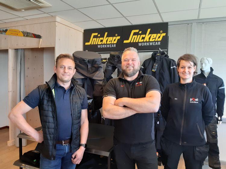 V.l.n.r.: Jeroen Reupkes (Snickers Workwear), Jeroen Davelaar (Poel Bosbouw Baambrugge), Kim van Essen (Poel Bosbouw Apeldoorn)