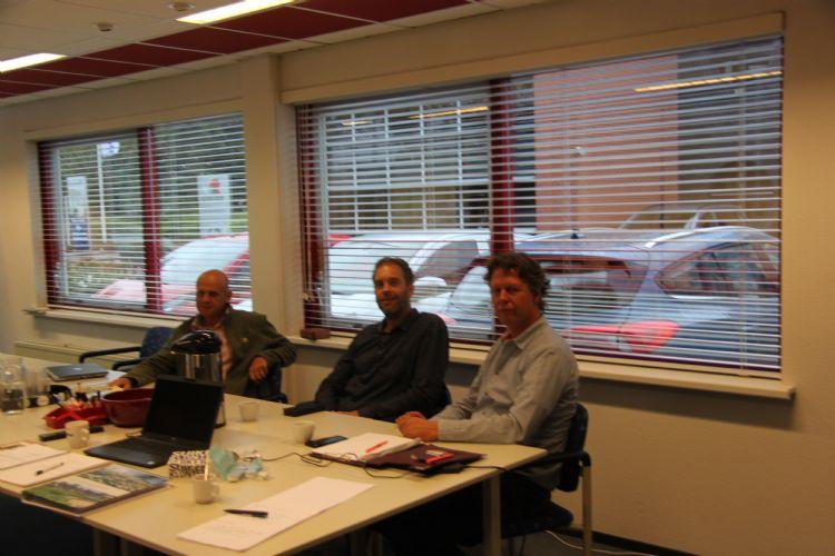 V.l.n.r.: Gerrit Klop, Jos Smit en Eltjo Rendering