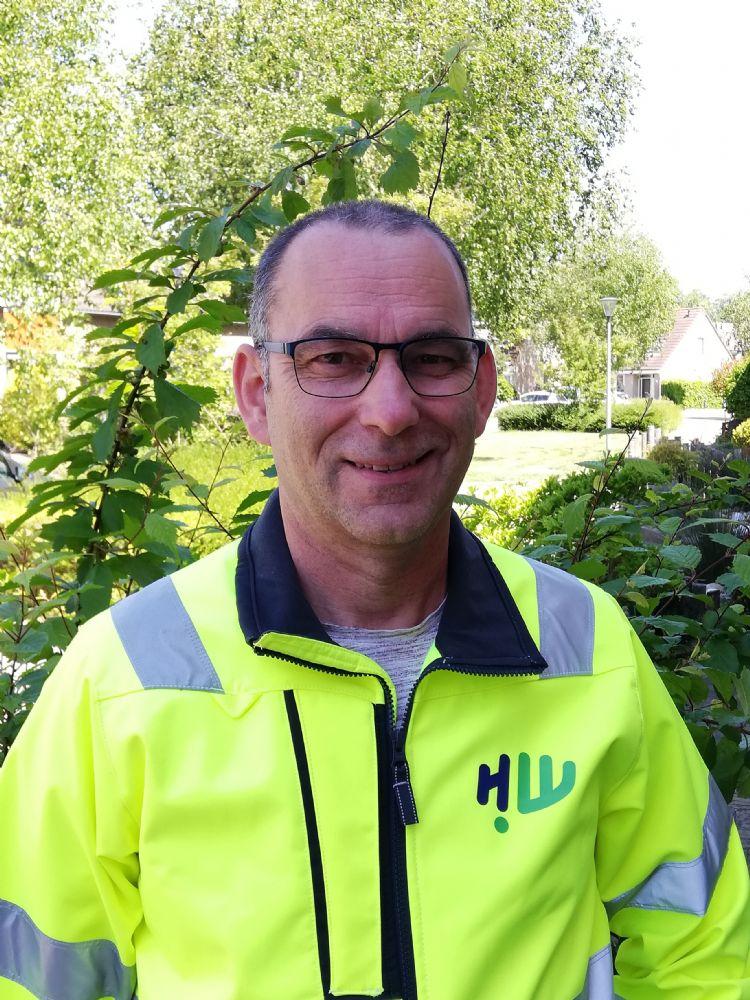 Olaf van der Beek, werkvoorbereider en beheerder bij de gemeente Hoeksche Waard
