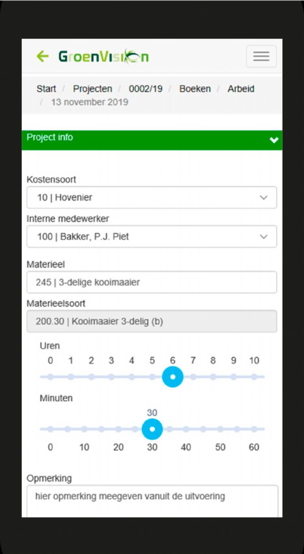 iPhone-scherm Vision Mobile