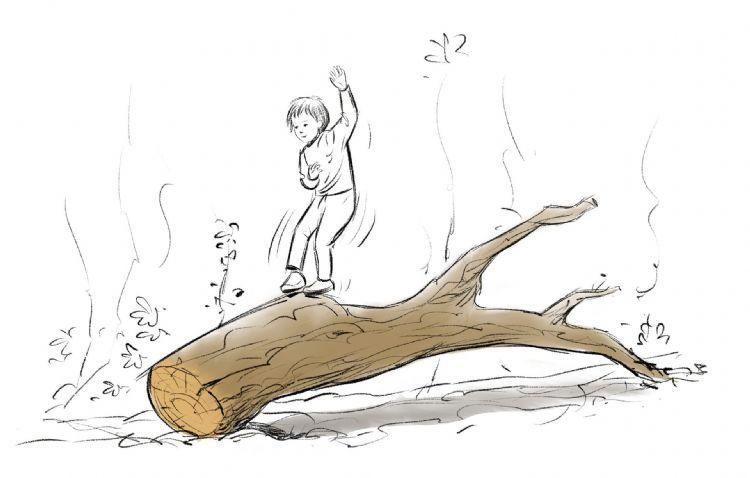 Een oude boom als speelplek