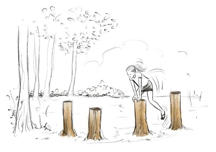 Het bos als fitnessterrein