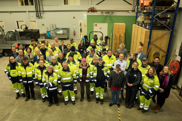 Het Werkom Groen-team. Foto: Werkom