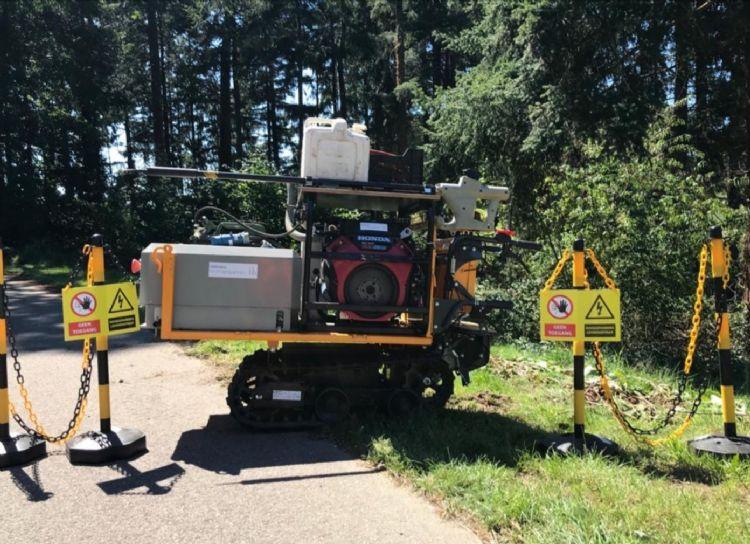 Banning: 'Onze experts hebben de Rootwave Pro op een elektrische kruiwagen staan. We kunnen overal tussendoor, ook in achtertuinen. We werken in en rond Arnhem veel in natuurgebieden en in de bossen, waar je met de auto niet kunt komen.'