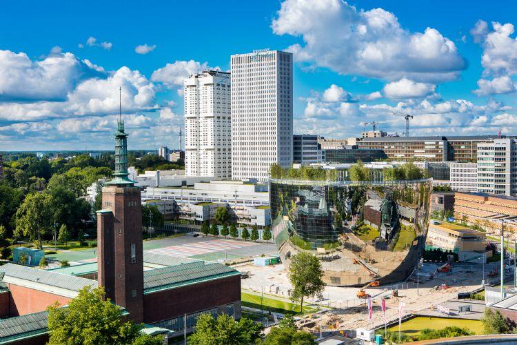 Depot Boijmans Van Beuningen in zijn stedelijke omgeving