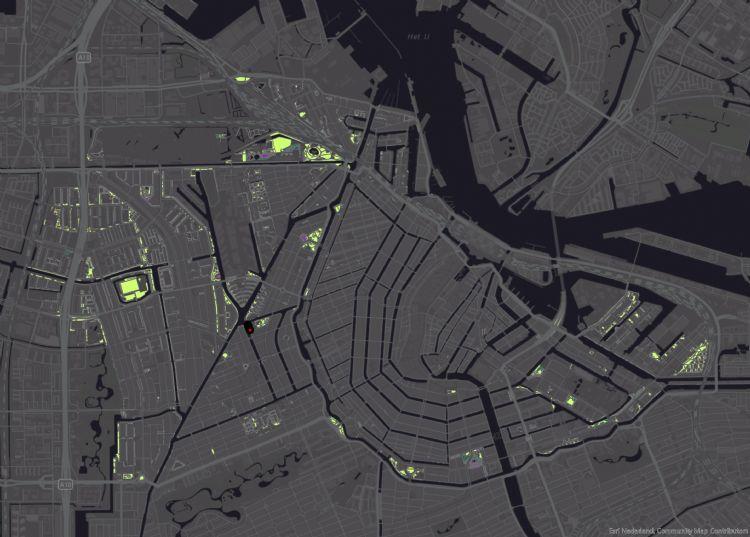 GIS-kaart Amsterdam-Centrum en -West