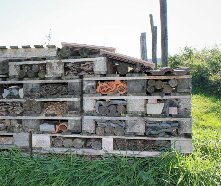 Een bijen- en insectenhotel uit hergebruikte materialen