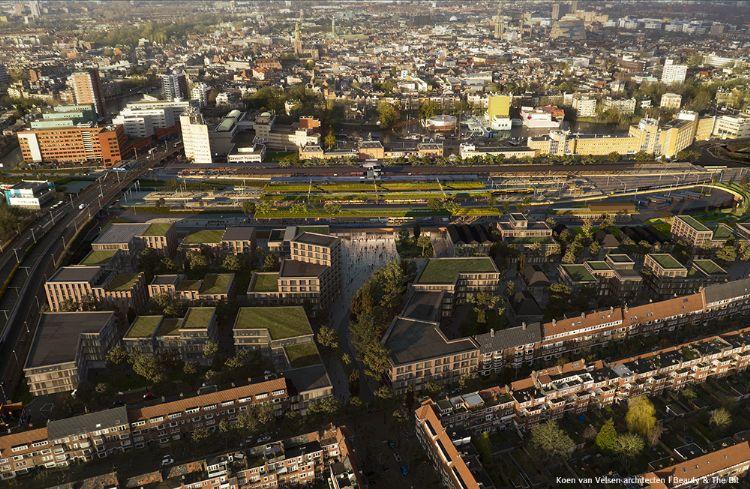 Ontwerp hoofdsstation Groningen. Beeld: Koen van Velsen architecten