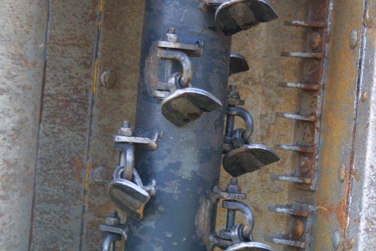 De spiraalvormig aangebrachte M-klepels zijn gemakkelijk te vervangen.