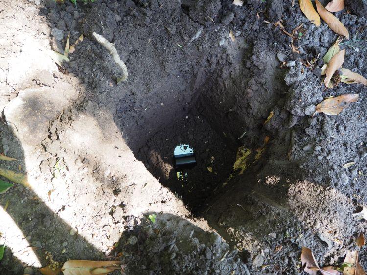 Sensoren die de grond in gaan