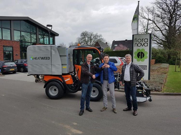 VLNR: Johan Bruntink, van het gelijknamige bedrijf, Walter van der Wal, directeur van Flora Nova en Jan van der Zanden, accountmanager bij Heatweed.