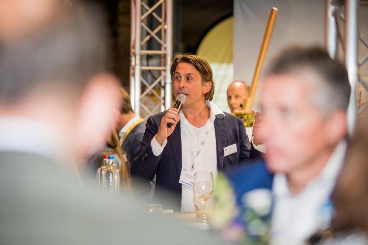 Lodewijk Hoekstra op het Diner Pensant. Foto: Vakbeurs Openbare Ruimte