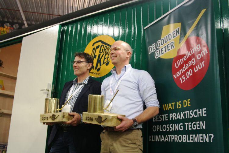 De winnaars: links Dionysios Sofronas, rechts René Voogt