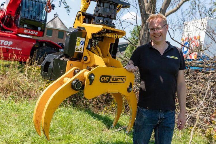 Michel Gierkink van GMT Equipment, het brein achter een serie innovaties bij aanbouwvelkoppen