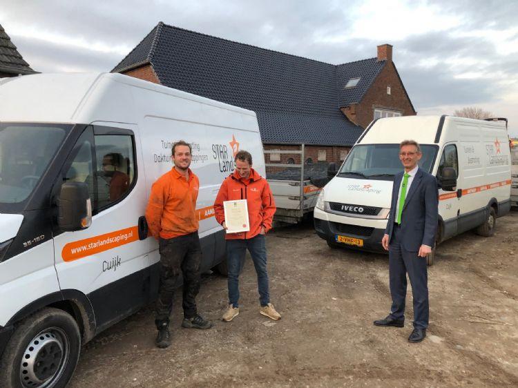 V.l.n.r. Jop Schulte, Wouter van Gent en Dick Oosthoek
