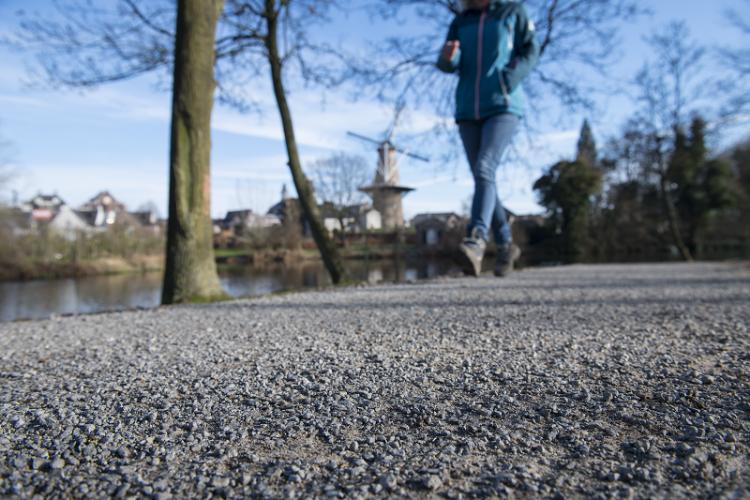 Het BSG Pad aan de Stationssingel in Ravenstein is in alle seizoenen goed begaanbaar.